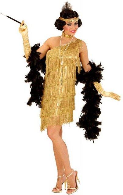 Charleston Flapper Lieselotte Damenkostüm gold