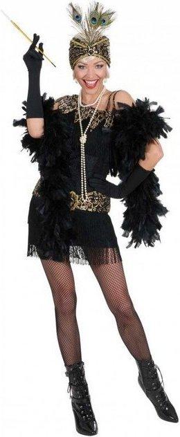 Flapper Girl Charleston Kostüm schwarz