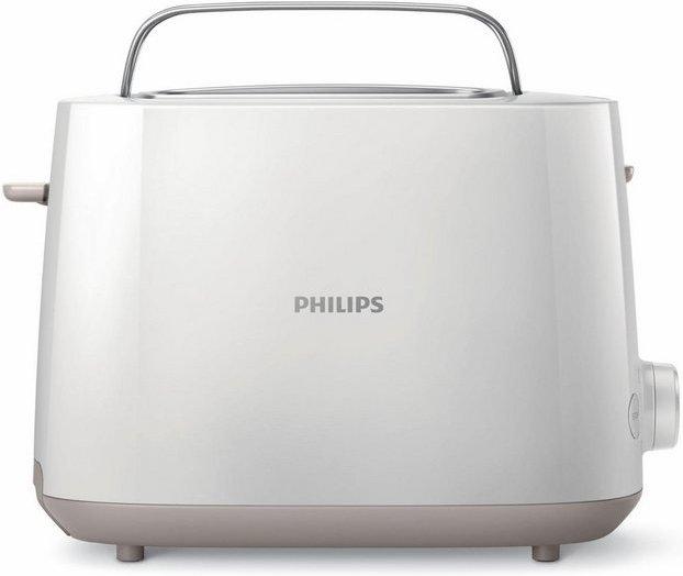 Philips Toaster HD2581/00, 2 kurze Schlitze, 830 W, 2 Toastkammern