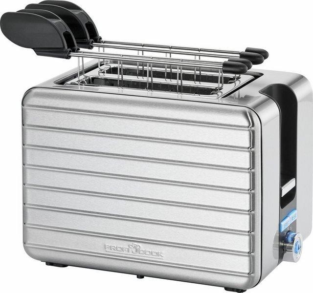 ProfiCook Toaster PC-TAZ 1110, 2 kurze Schlitze, für 2 Scheiben, 1050 W