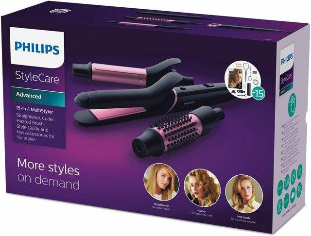 Philips Multihaarstyler BHH822/00, Haarglätter, Lockenstab und Heizbürste in einem Produkt