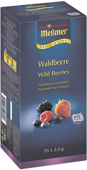 Meßmer Früchtetee Tassenportion, Aromakuvert, 25er-Pack »Profi Line Waldbeere«