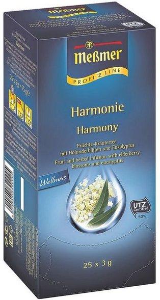 Meßmer Früchte-Kräutertee Tassenportion, Aromakuvert, 25er-Pack »Profi Line Harmonie«