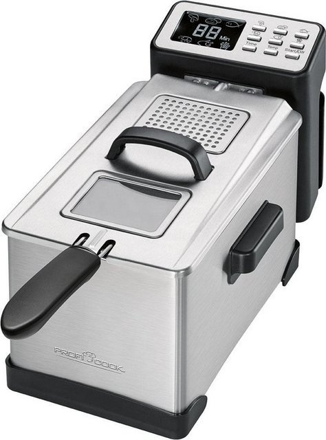 ProfiCook Fritteuse PC-FR 1087, 2000 W, Fassungsvermögen 3 l