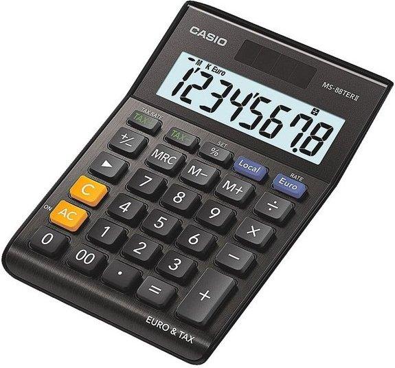 CASIO Tischrechner schwarz »MS-88TERII«
