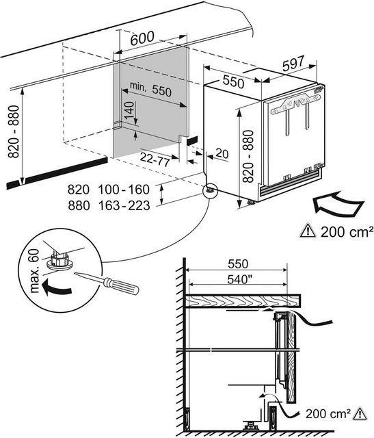 Liebherr Einbaugefrierschrank Comfort SUIG 1514-20, 82 cm hoch, 59,7 cm breit