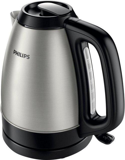 Philips Wasserkocher HD9305/20 1,5 Liter, 2200 W, Edelstahl/schwarz, 1,5 l, 2200 W