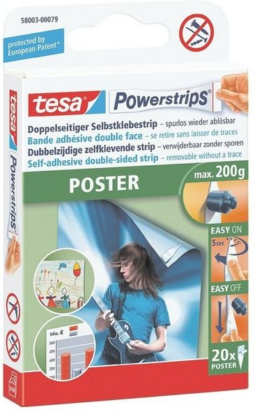 Tesa Powerstrips 58003 bis 200 g »Poster - Office Pack«