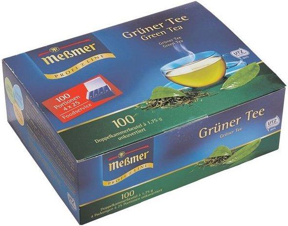 Meßmer Grüner Tee Tassenportion, unkuvertierte Beutel, 100er-Pack »Profi Line«