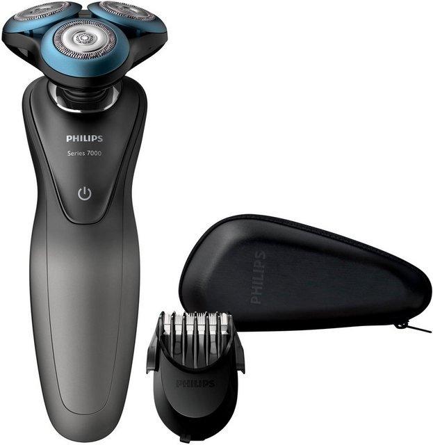 Philips Elektrorasierer S7960/17, Aufsätze: 1, Series 7000, GentlePrecision-Klingen, SmartClick-Barttrimmer