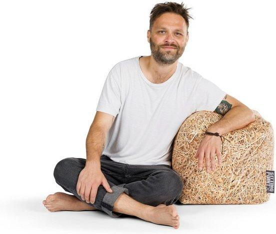 Sitting Point Sitzsack »Cube STRAW«, Digitaldruck Softfeeling