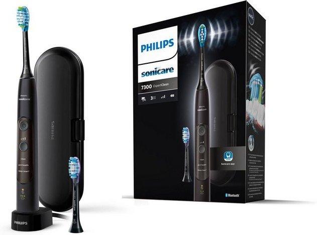 Philips Sonicare Schallzahnbürste HX9601 ExpertClean 7300, Aufsteckbürsten: 2 St.