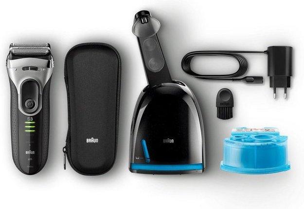 Braun Elektrorasierer Series 3 ProSkin 3090c, Clean&Charge-Station