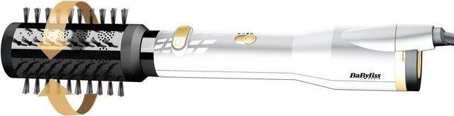 BaByliss Warmluftbürste AS545E, Brush & Style Sensitive Ionic White & Gold