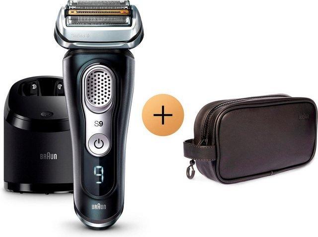 Braun Elektrorasierer Series 9 9380cc, mit Reinigungs- und Ladestation und gratis Tasche