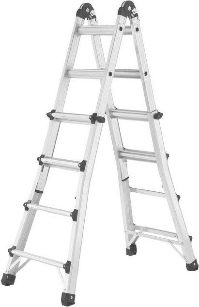 HAILO Sprossenleiter »M80«, 4x4 Sprossen, max. Arbeitshöhe: 438 cm