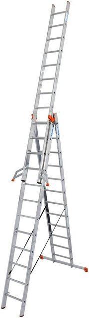 KRAUSE Vielzweckleiter »Tribilo«, mit Leiternspitzen, 3x12 Sprossen
