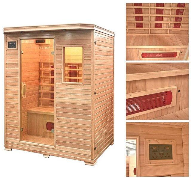 HOME DELUXE Infrarotkabine »Redsun L«, 153/110/190 cm, 40 mm, für bis zu 3 Personen