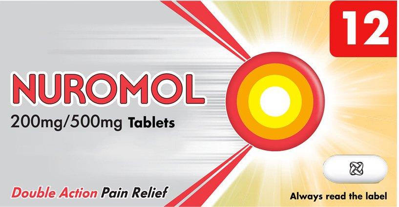 Nuromol 200 500mg Tablets 12s