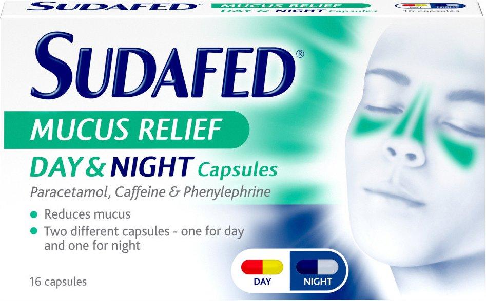 Sudafed Mucus Relief Day   Night Capsules 16s