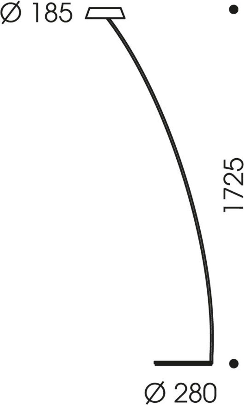 OLIGO Glance LED floor lamp curved matt grey
