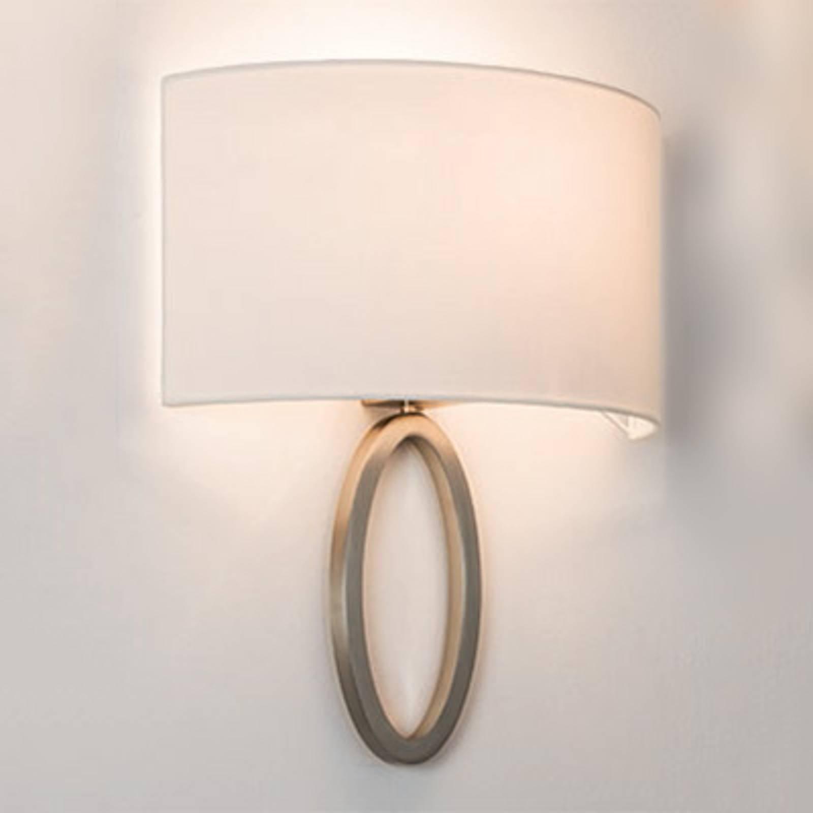 Elegant fabric wall light Lima in white