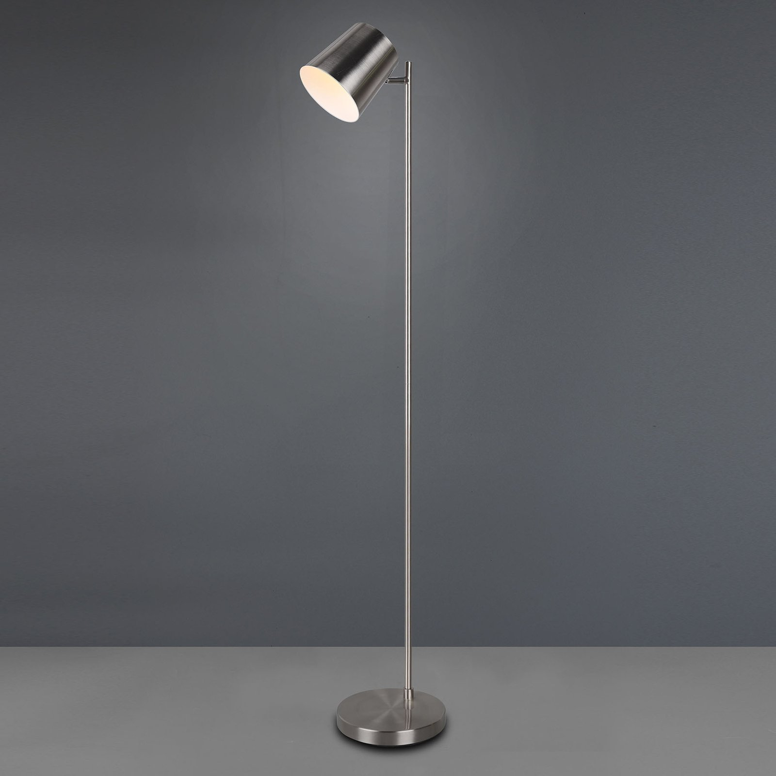 Blake LED floor lamp with battery  dimmable nickel