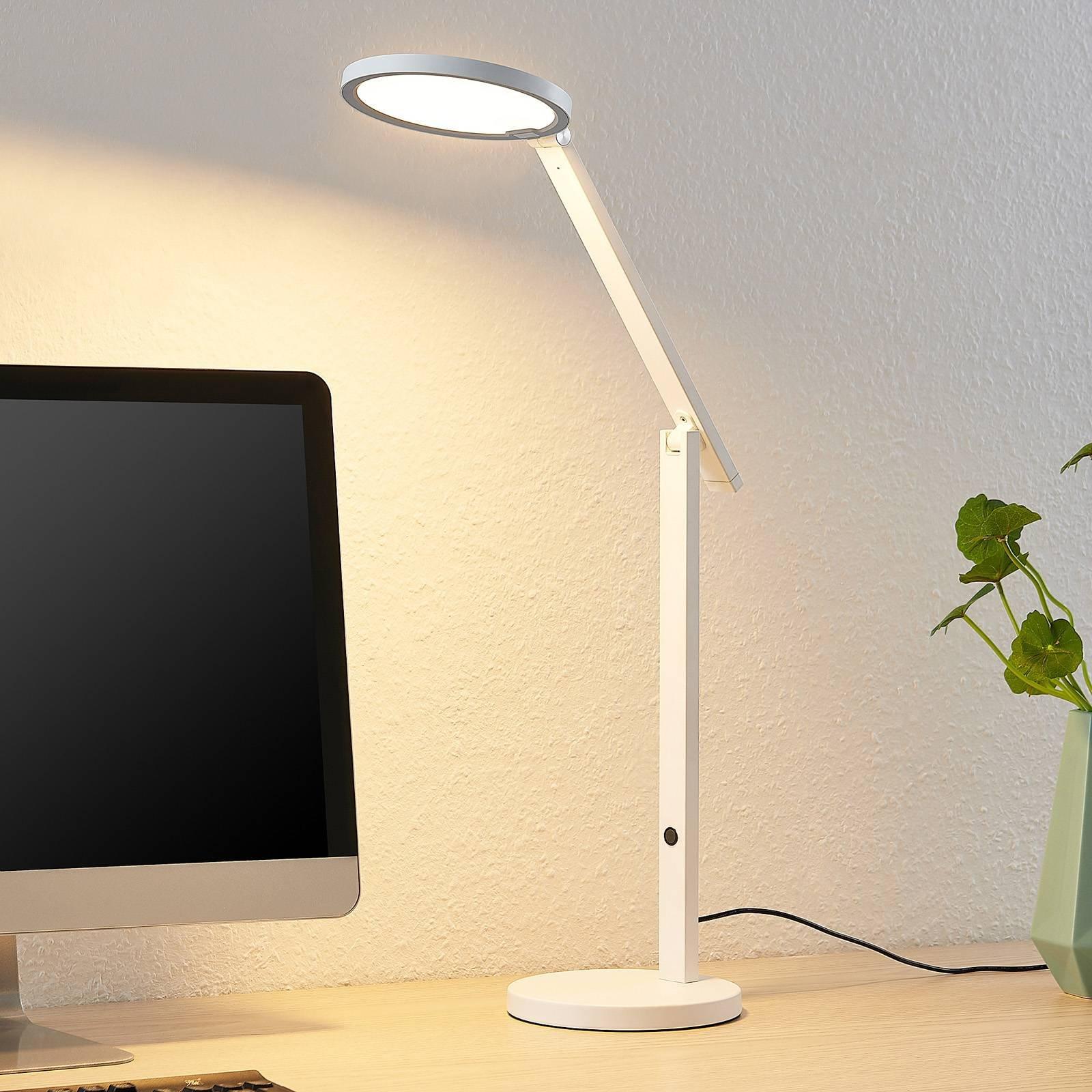 Lucande Felkano LED table lamp  white
