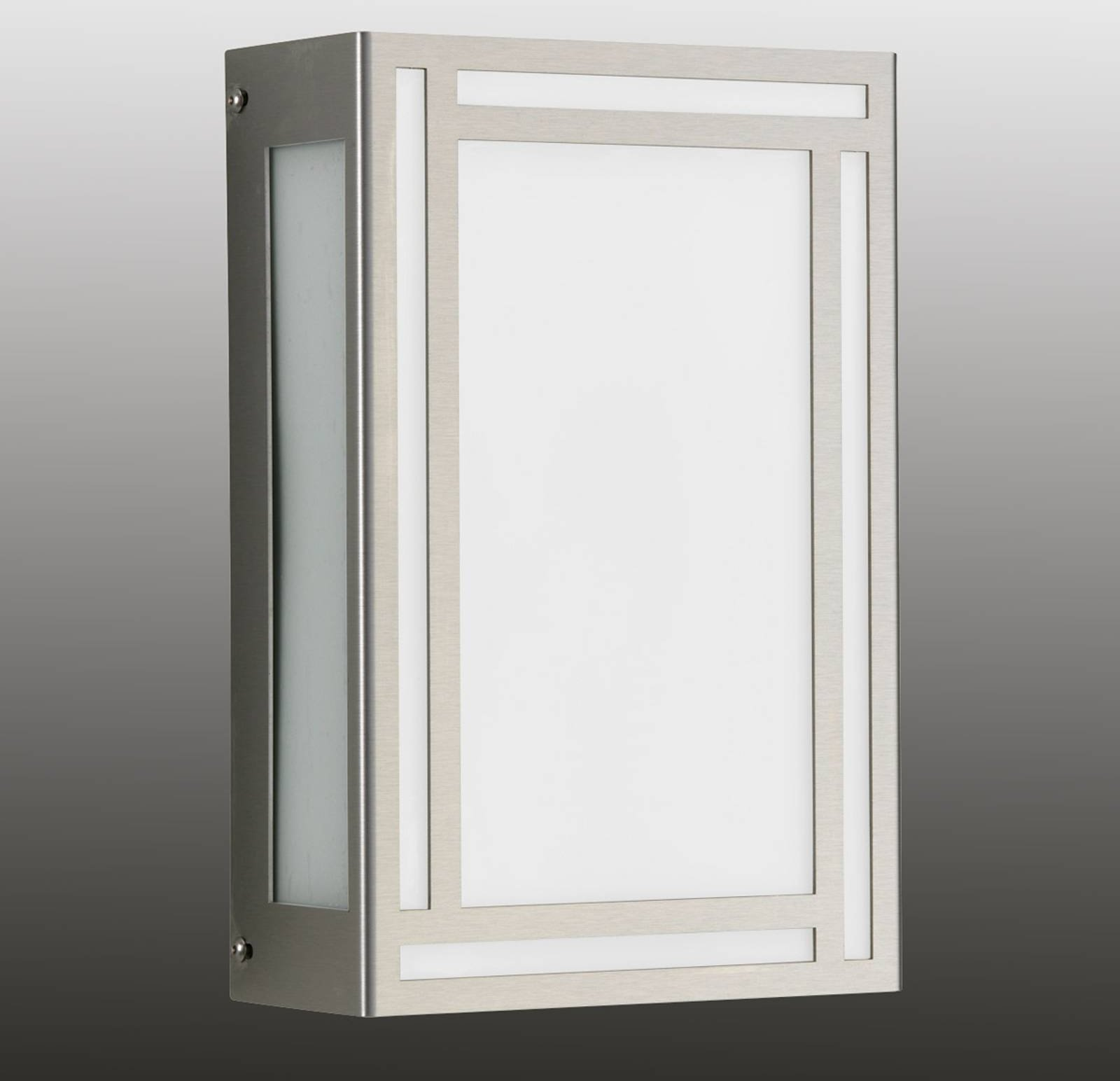 Ruby   slim st  steel LED outdoor wall light