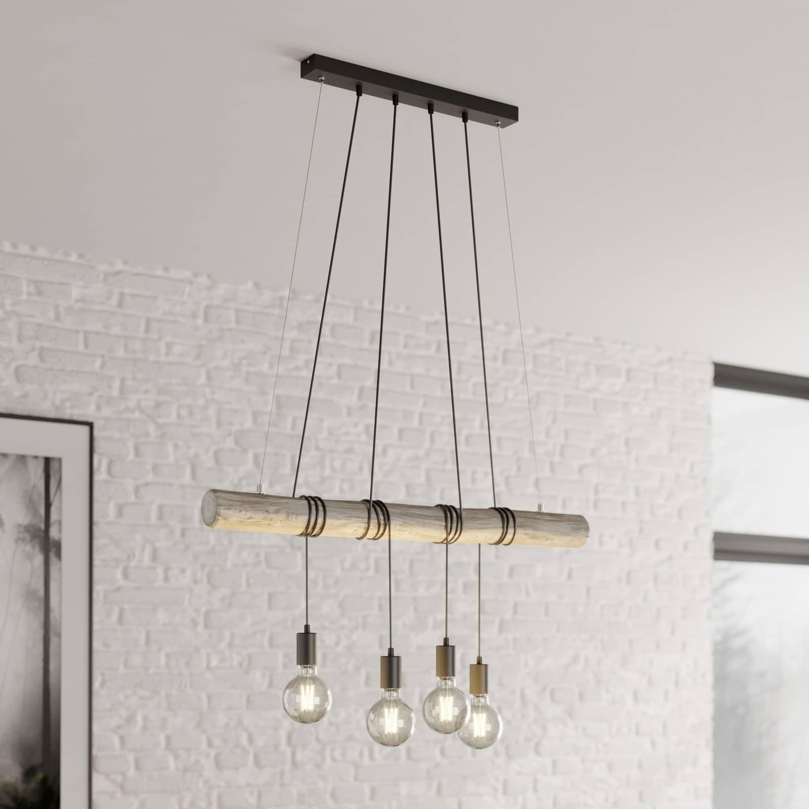 Rohana hanging light  4 black sockets