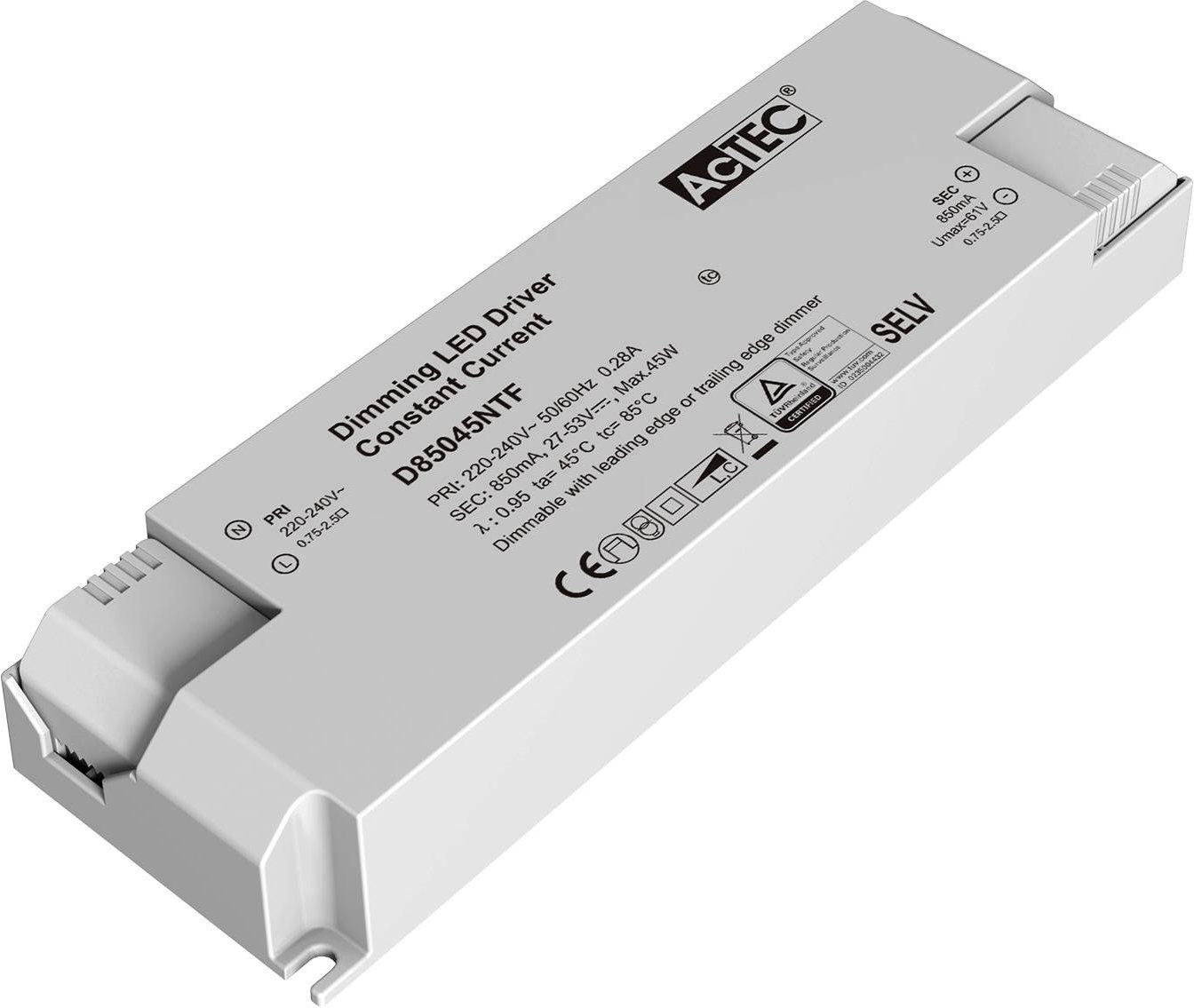 AcTEC Triac LED driver CC max  45 W 850 mA
