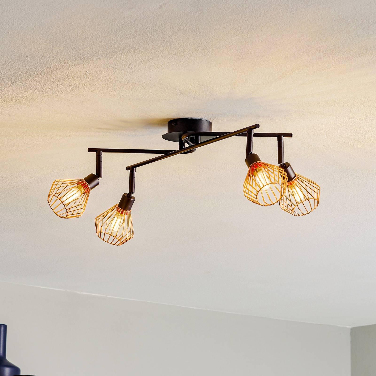 4 bulb Dalma ceiling light