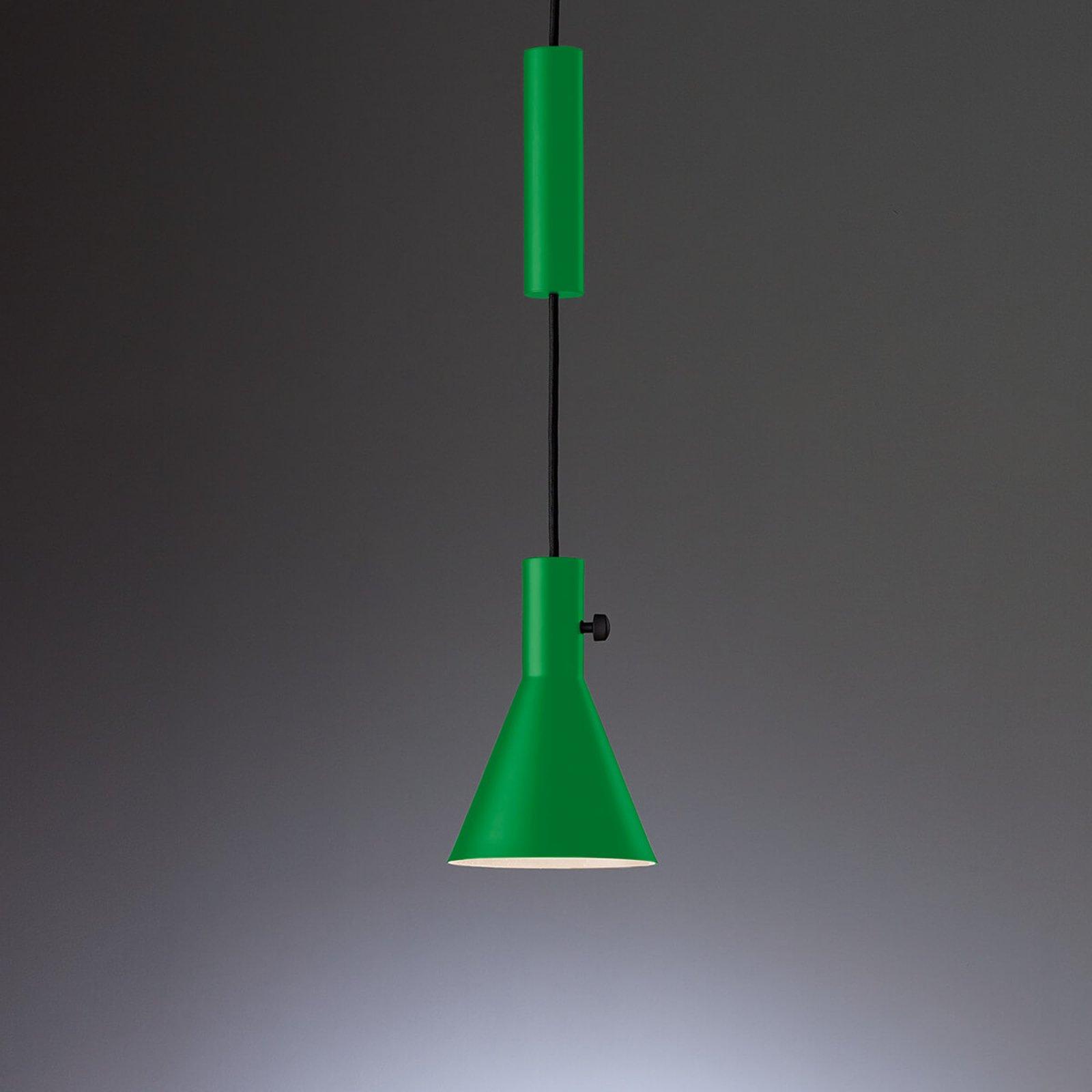 Green designer LED hanging light Eleu