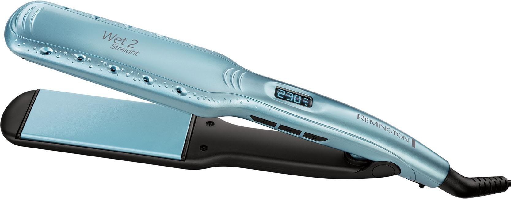 Remington Glätteisen S7350 Breiter Wet2Straight Haarglätter Keramik-Beschichtung