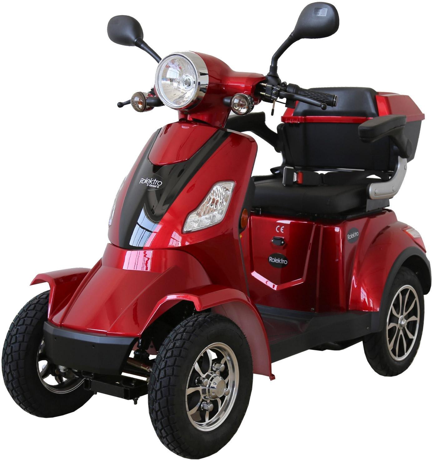 Rolektro Elektromobil E-Quad 15 1000 W 15 km/h (mit Topcase)