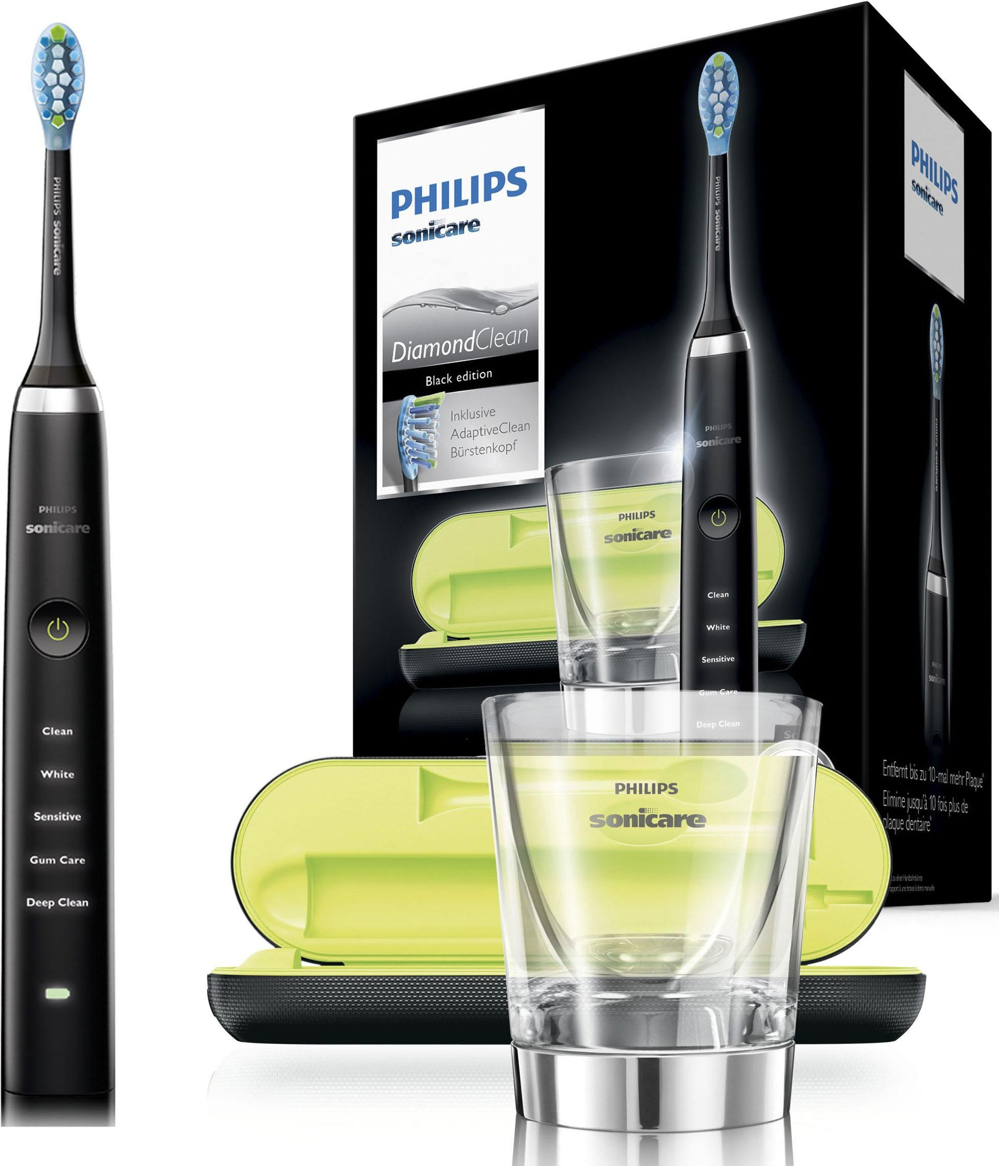 Philips Sonicare Schallzahnbürste HX9359/89 Diamond Clean Neue Generation Aufsteckbürsten: 1 Stk
