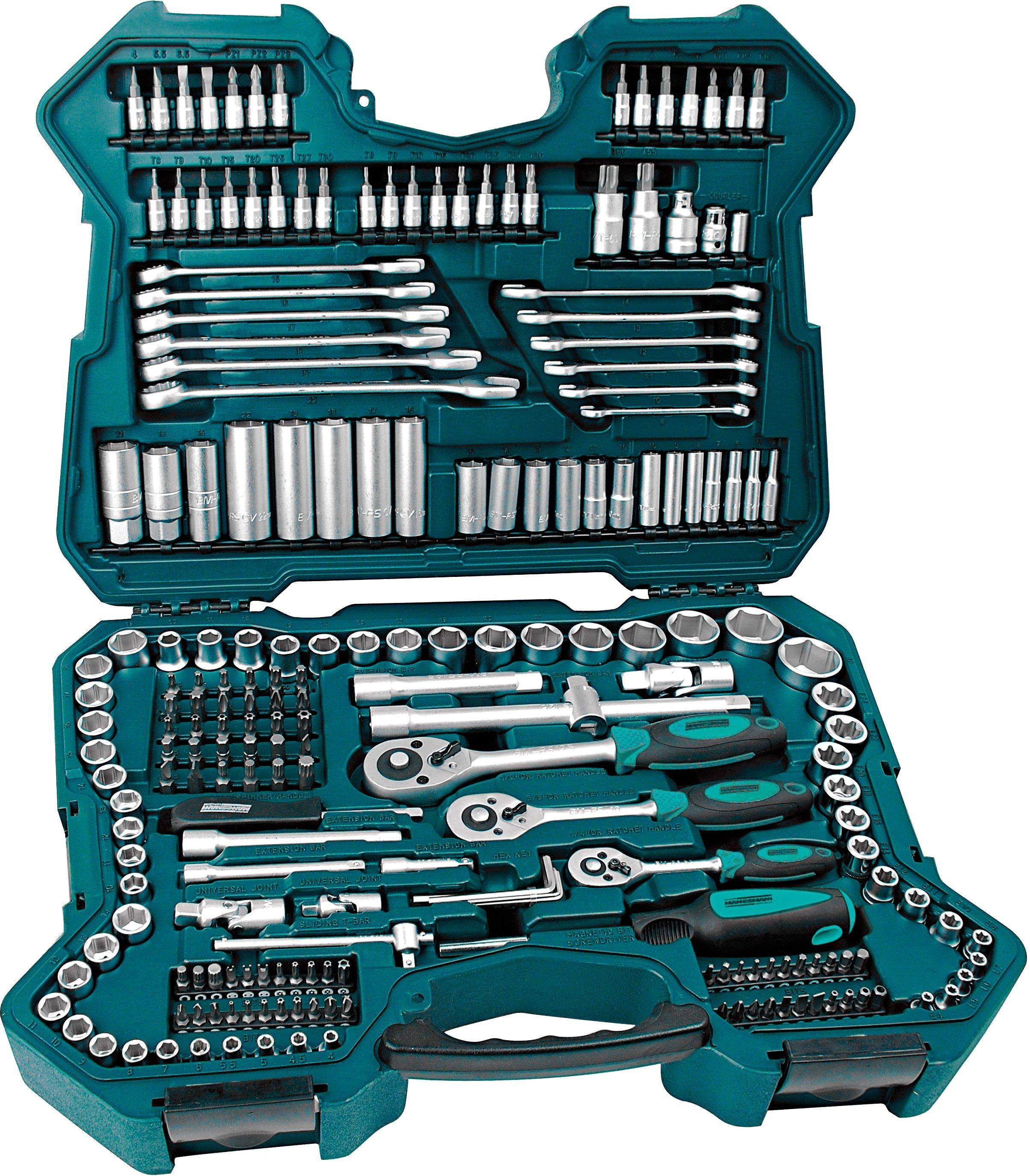 Brueder Mannesmann Werkzeuge Steckschlüsselsatz (215-tlg)