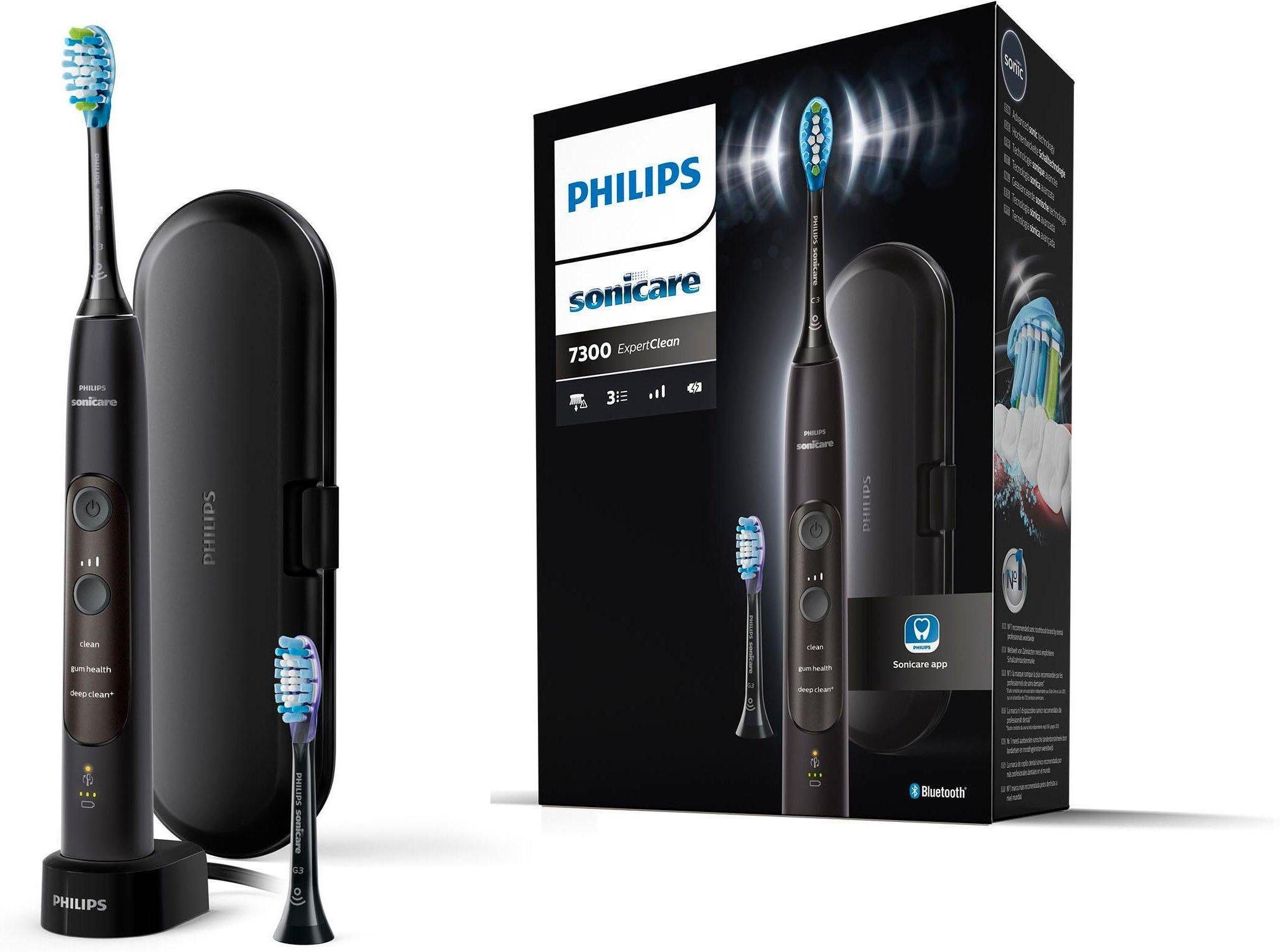 Philips Sonicare Schallzahnbürste HX9601 ExpertClean 7300 Aufsteckbürsten: 2 Stk