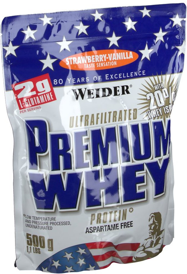 Weider Premium Whey, Erdbeere-Vanille, Pulver
