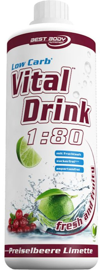 Best Body Nutrition Low Carb Vital Drink, Preiselbeere-Limette