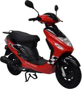 Alpha Motors Motorroller CityLeader 50 ccm 45 kmh, rot