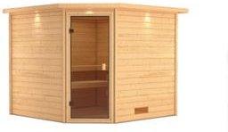 Woodfeeling Sauna Leona Set 2 mit Eckeinstieg, ohne Ofen