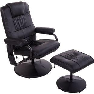 HOMCOM Massagesessel mit Wärmefunktion und Hocker 77 x 73 x 95 cm (LxBxH)   Massagesessel Fernsehsessel Relaxsessel Sessel