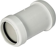 FloPlast WP08W Push Fit Waste Straight Coupler   White 40mm