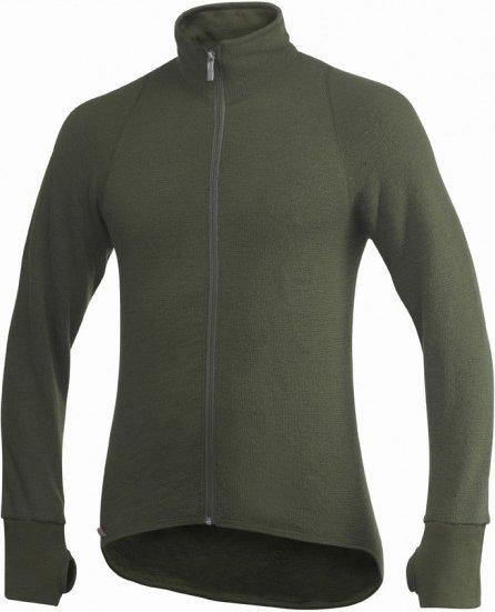 Woolpower - Full Zip Jacket 400 - Wolljacke Gr XXL schwarz/oliv