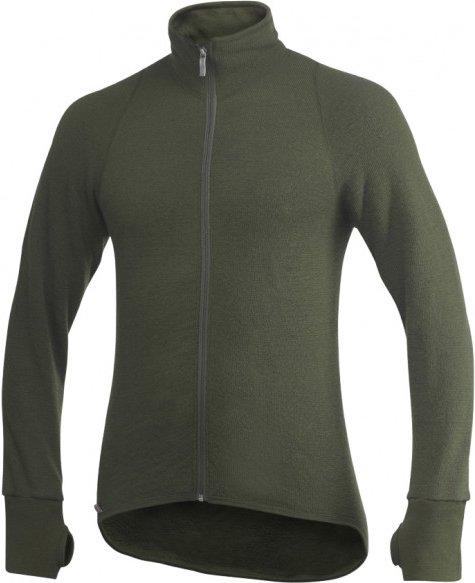 Woolpower - Full Zip Jacket 600 - Wolljacke Gr XL schwarz/oliv