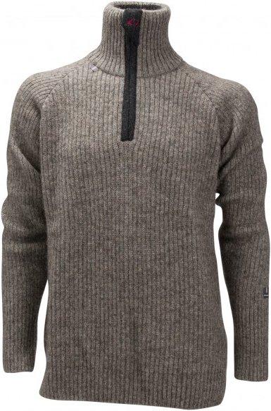 Ulvang - Feral Sweater with Zip - Wolljacke Gr XXL grau/braun