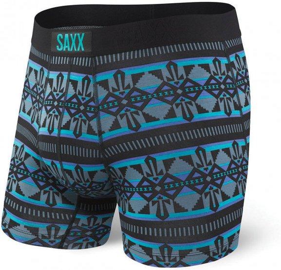 Saxx - Vibe Boxer Modern Fit - Kunstfaserunterwäsche Gr S schwarz/blau