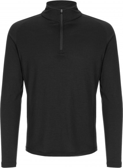 SuperNatural - Base 1/4 Zip 175 - Merinounterwäsche Gr XL schwarz