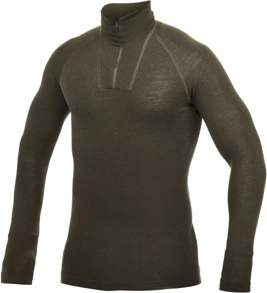 Woolpower - Zip Turtleneck Light - Merinounterwäsche Gr XXL schwarz/braun